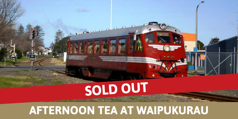 Railcar Ride and Afternoon Tea at Waipukurau